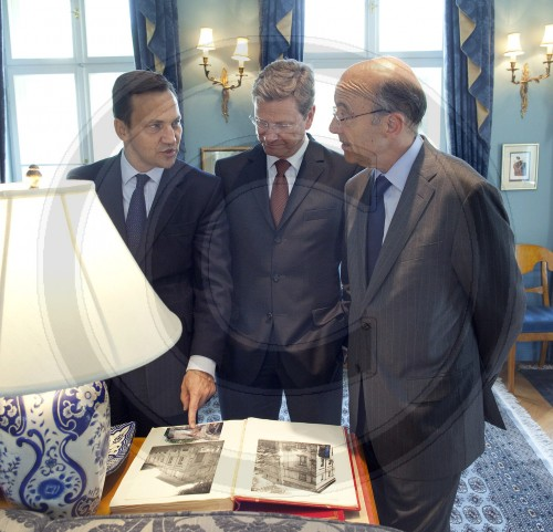 Westerwelle im Privathaus Sikorskis