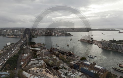 View of the Harbour Bridge, Opera House and Sydney Harbour, Australia, 01.06.2011