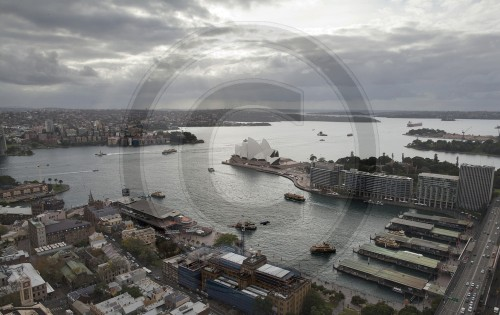 View of the opera house and Sydney Harbour, Australia, 01.06.2011