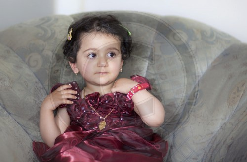Two-year-old girl from Iraq, Bonn 28.06.2011. MODEL RELEASE available.
