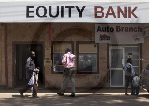 Equity Bank in Embu , Afrika. 17.01.2012