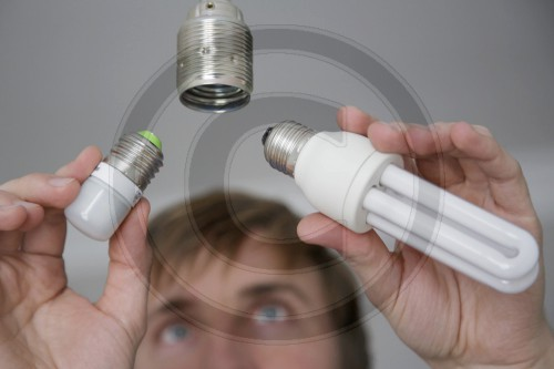 Energiesparlampe vs. LED