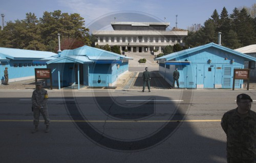 Suedkoreanische Soldaten der Joint Security Area  in Panmunjeom