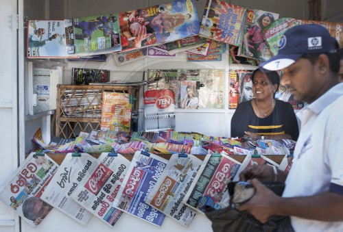 Zeitungsstand in Colombo, Sri Lanka