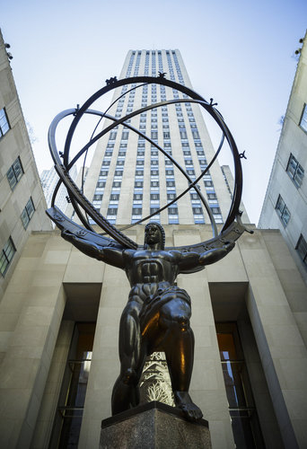 Atlas Statue vor dem Rockefeller Center in New York