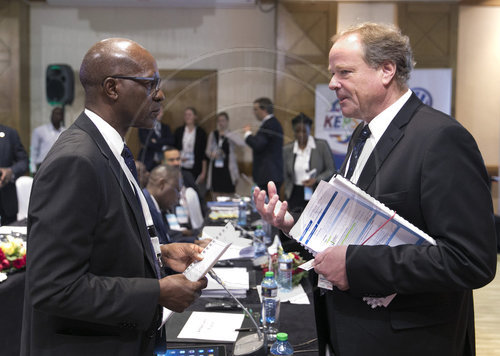 Dirk Niebel, auf dem German-African-Business-Summt ( GABS, German-African-Business-SummIt,  )