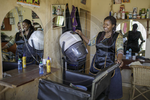 Friseursalon in Kenia