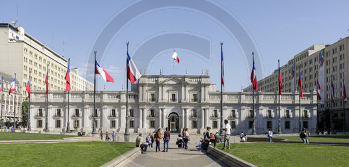 Praesidentenpalast La Moneda in Chile