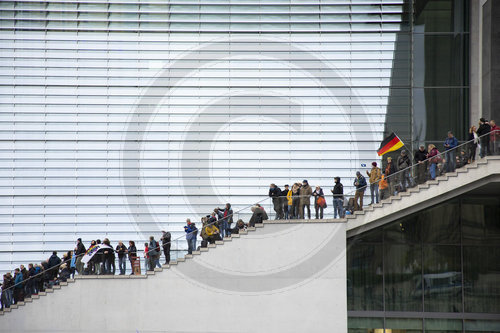 Demonstration am Bundestag